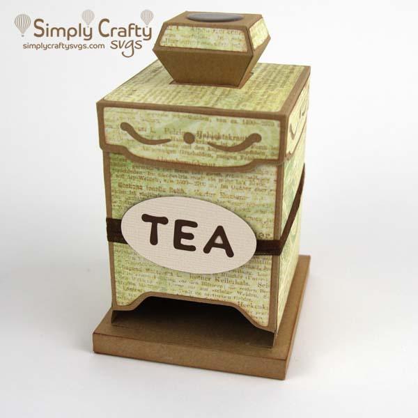 Tea Bag Dispenser SVG File