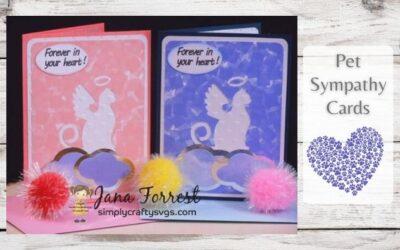 Pet Sympathy Cards by Jana