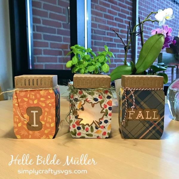 I Love Fall Mason Jars by Helle