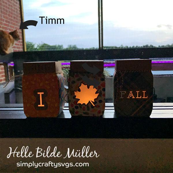 Fall Mason Jar Luminaries by Helle