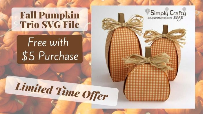 (Expired Offer) FREE Fall Pumpkin Trio SVG for Limited Time