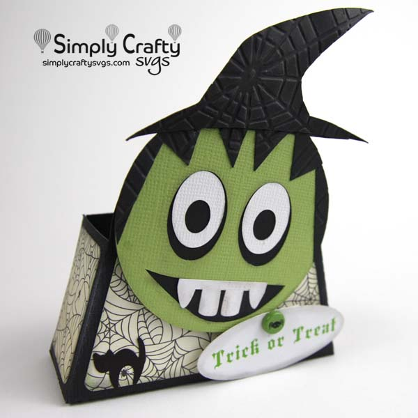 Witch Smiley Treat Box SVG File
