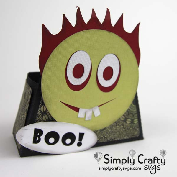 Zombie Smiley Treat Box SVG File
