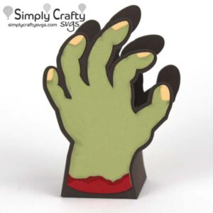 Zombie Hand Treat Box SVG File