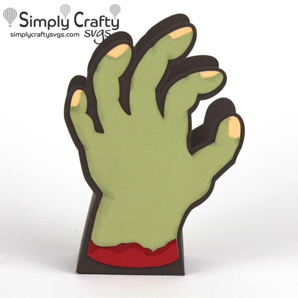 Zombie Hand Treat Box SVG File
