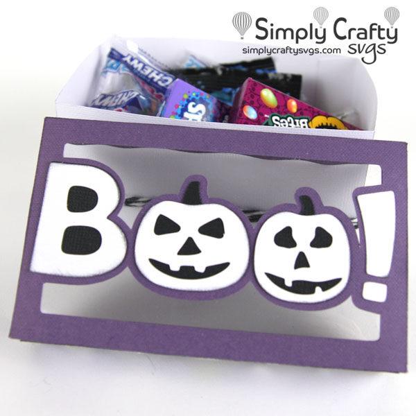 Boo Halloween Box SVG File