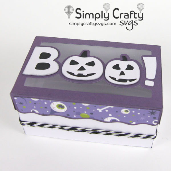 Boo Halloween Box SVG File