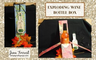 Anniversary Exploding Wine Bottle Box by Jana
