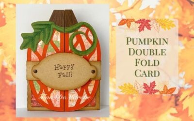 Pumpkin Double Fold Card by Tina