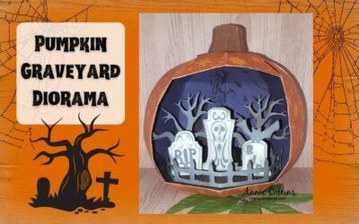 Pumpkin Graveyard Diorama by Annie