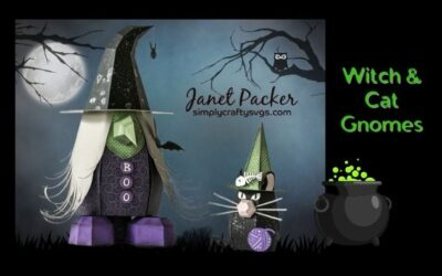 Witch and Cat Gnomes by Janet