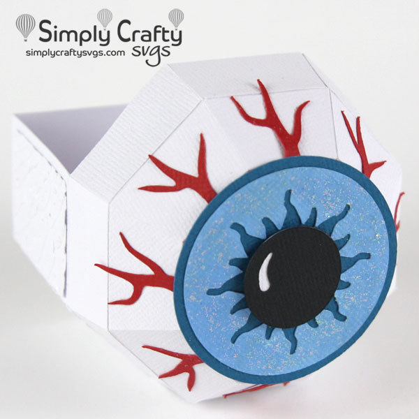 Eyeball Treat Box SVG File