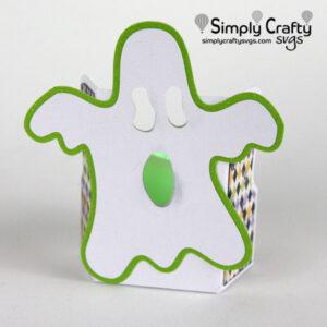 Ghost Tea Light Holder SVG File