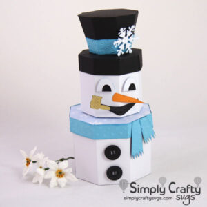 Snowman Stacking Box Set SVG File