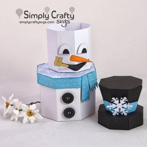 Snowman Stacking Box Set SVG File