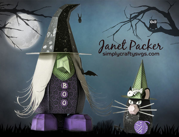 Witch and Cat Gnomes