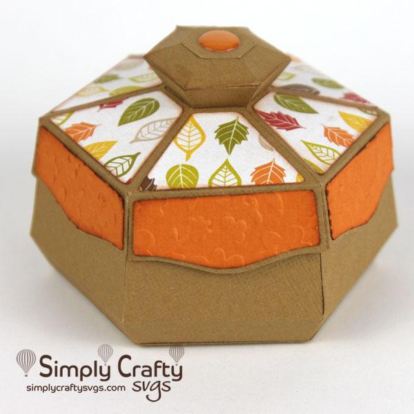 Angled Hexagon Box SVG File