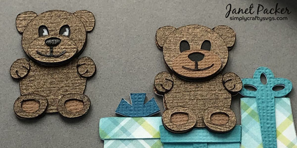 Baby's First Christmas Card Bears by Janet