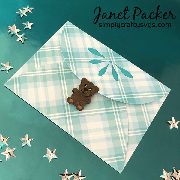 Baby's First Christmas Card Envelope by Janet