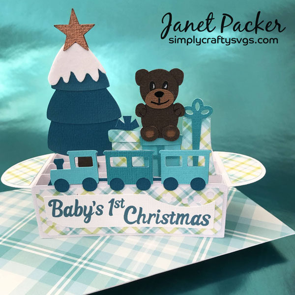 Baby's First Christmas Card by Janet