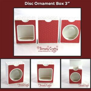 Disc Ornament Box 3 inch SVG File