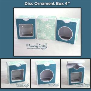 Disc Ornament Box 4 in SVG File
