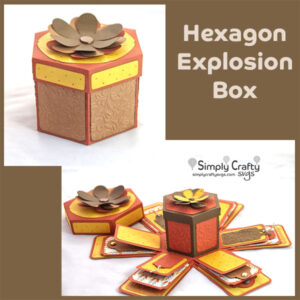 Hexagon Explosion Box SVG File