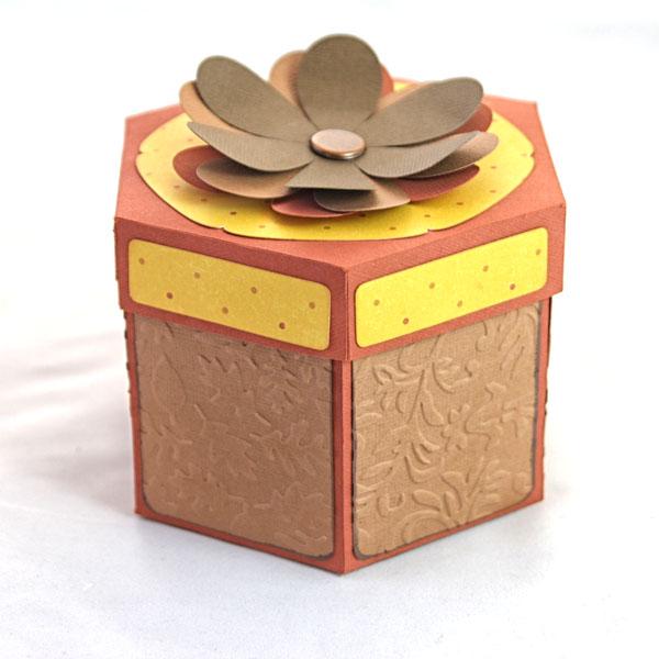Hexagon Explosion Box SVG File