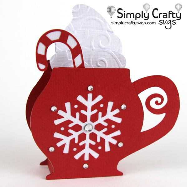 Hot Cocoa Mug Card SVG file