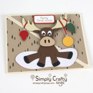 Moose with Ornaments Card SVG file