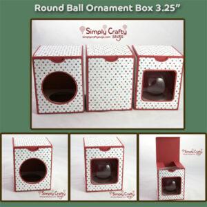 Round Ball Ornament Box 3.25 in SVG File