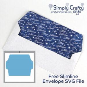 Slimline Envelope SVG file