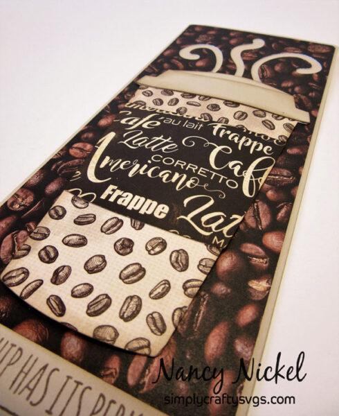 Slimline Coffee Card by Nancy