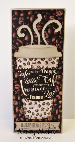 Slimline Coffee Card by Nancy
