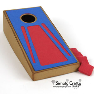 Desktop Cornhole Game SVG File