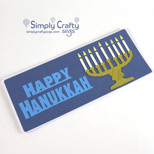Menorah Slimline Card SVG file