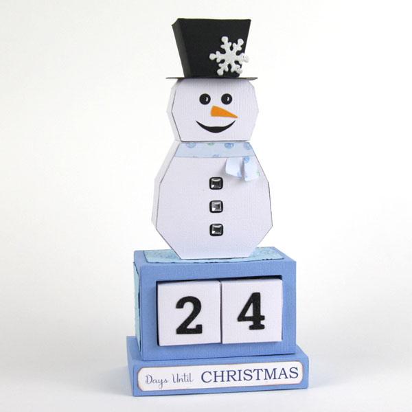Snowman Christmas Countdown SVG file