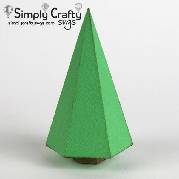 Village 3D Christmas Tree SVG file