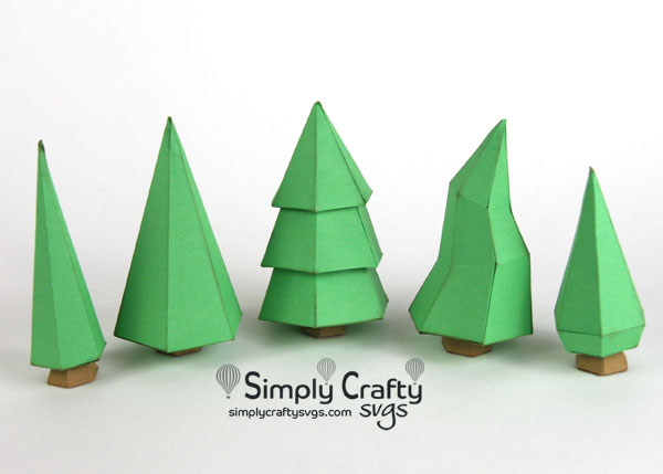 Village Christmas Trees SVG File