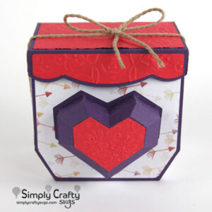 Beating Heart Gift Box SVG file