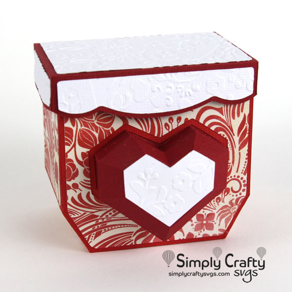 Beating Heart Gift Box SVG file