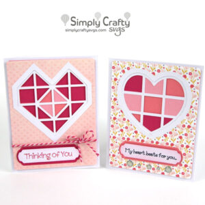 Layered Heart Card Set SVG File