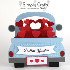 Love Truck Box Card SVG File