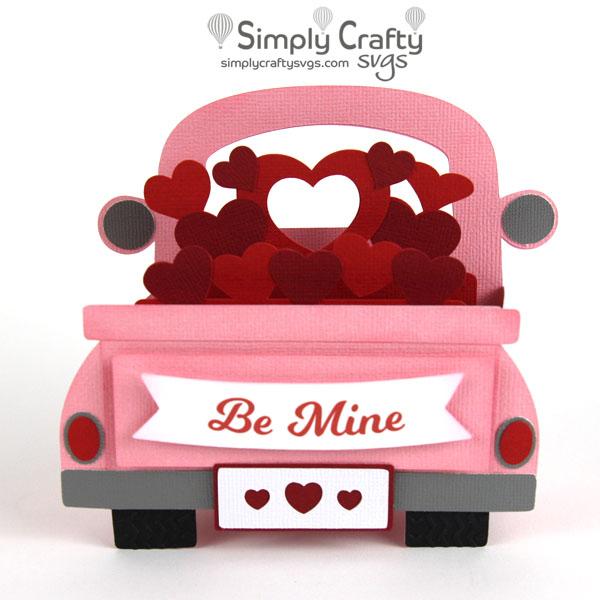 Love Truck Box Card SVG File