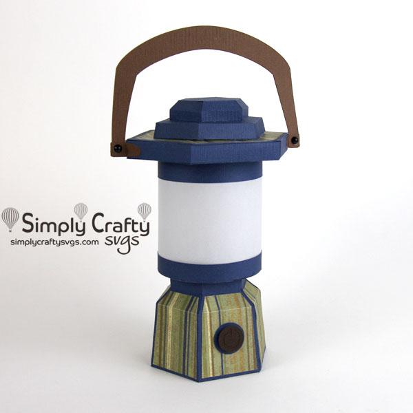 Blue Camping Lantern SVG File