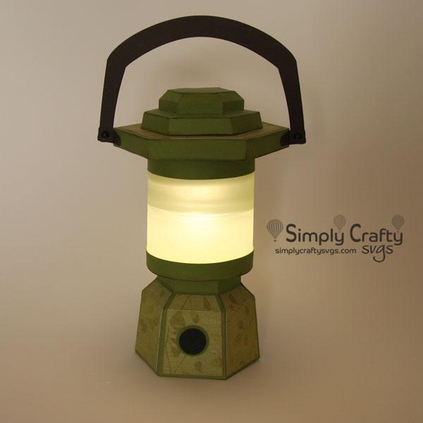 Camping Lantern SVG File