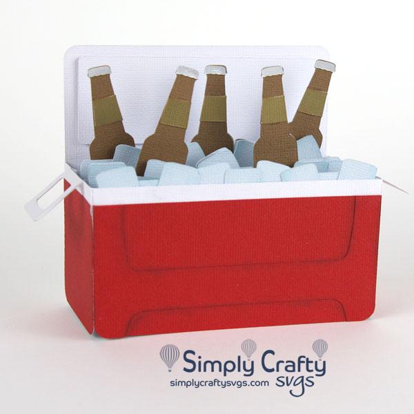 Ice Cooler with Bottles Card SVG File