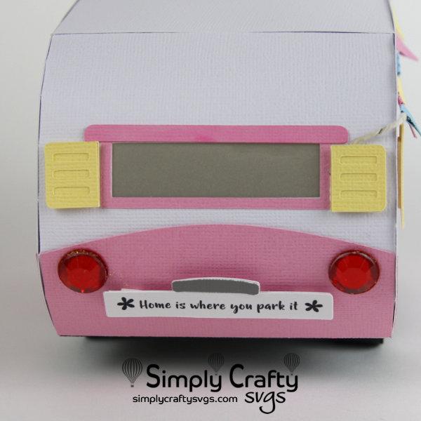 Pink Vintage Camper SVG File