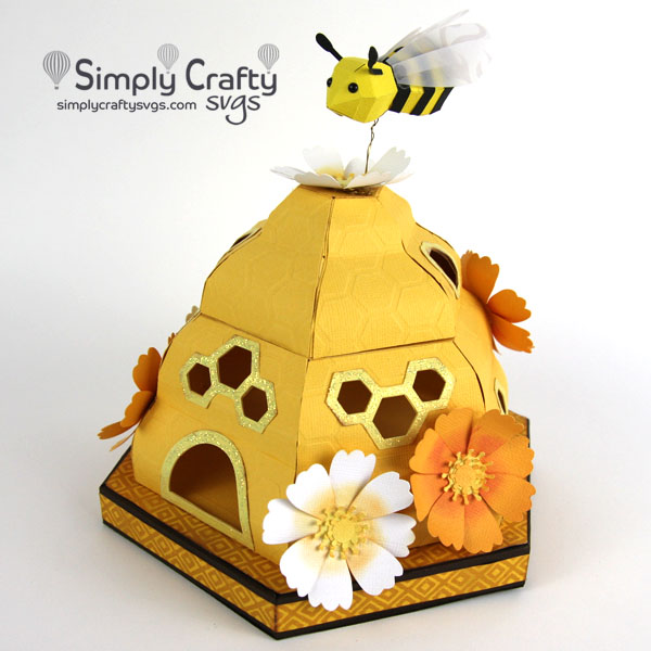3D Bee Hive SVG File