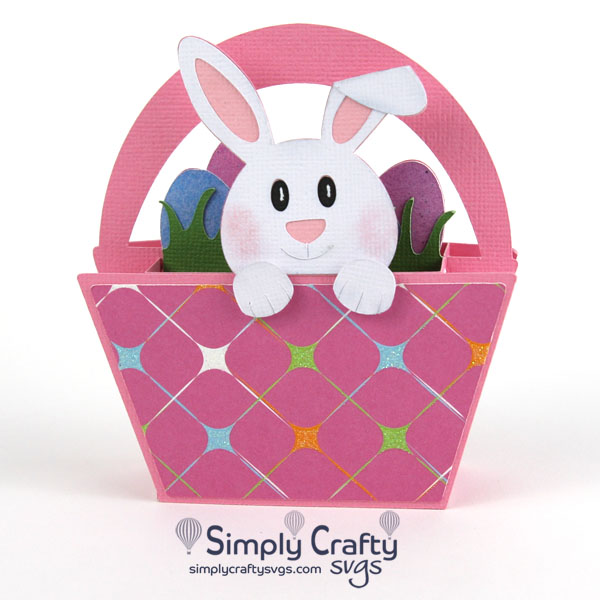 Bunny in a Basket Card SVG File